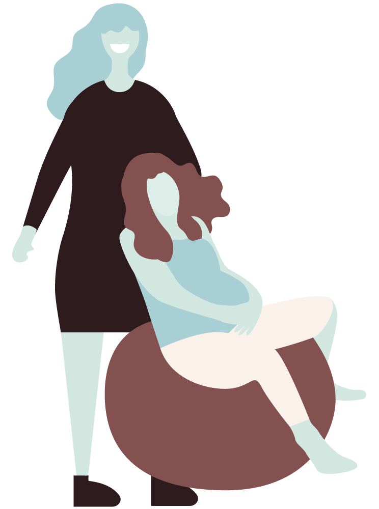 boober people illustration doula mother
