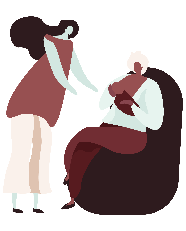 boober website lactation support illustration